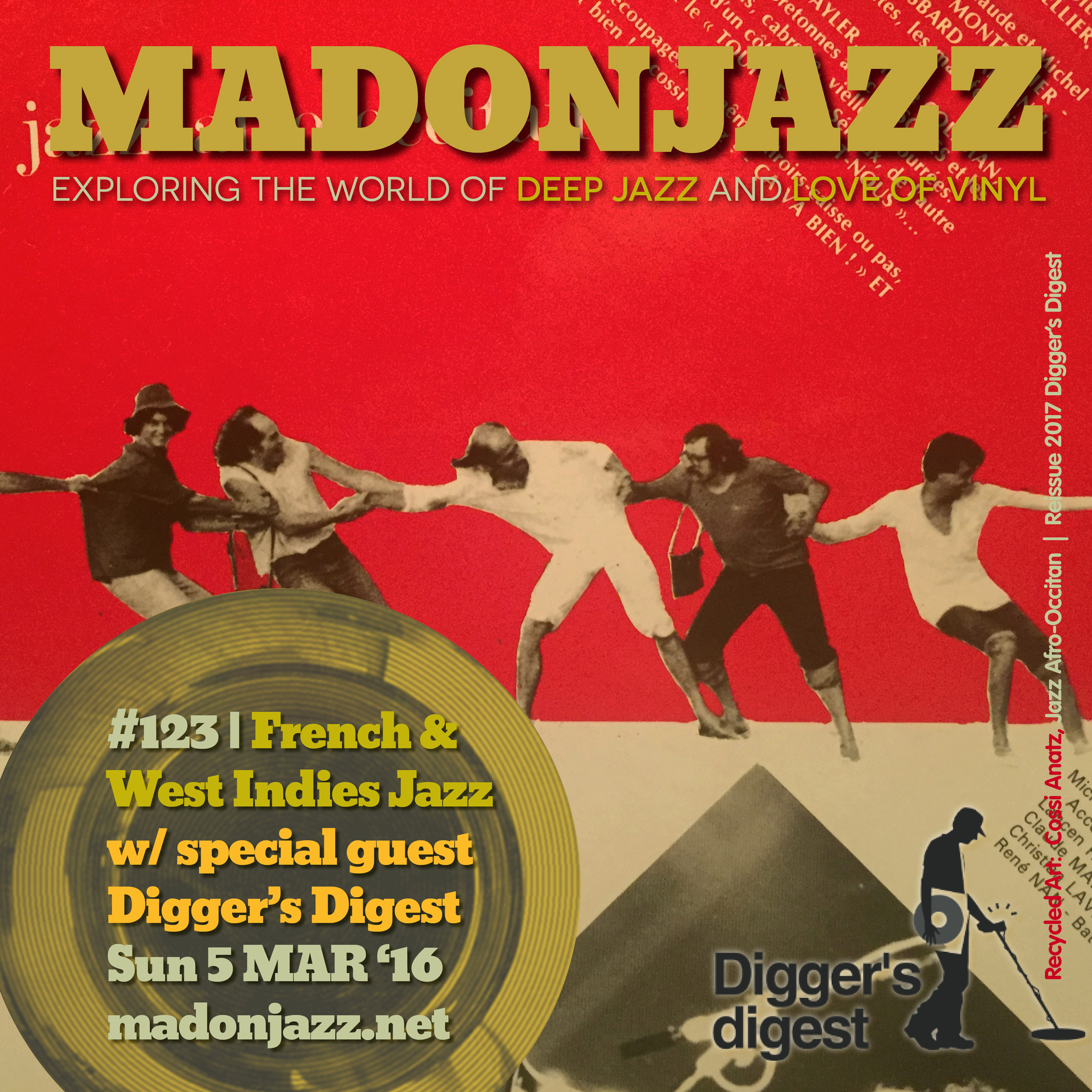MADONJAZZ #123 French & west Indies Jazz w/ Digger's Digest