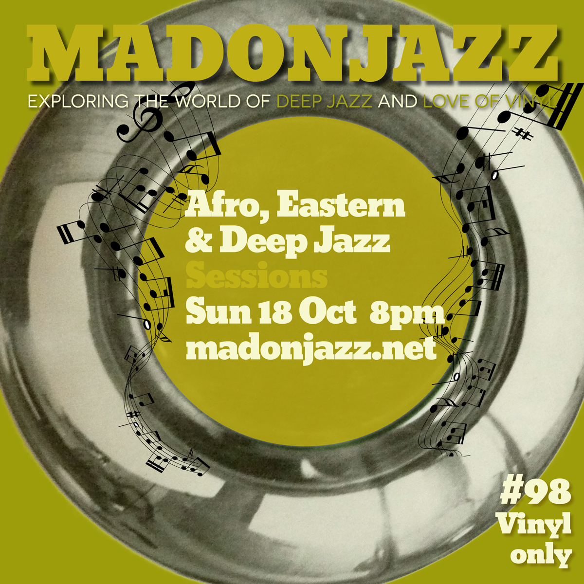 MADONJAZZ 18OCT Afro Eastern & Deep Jazz