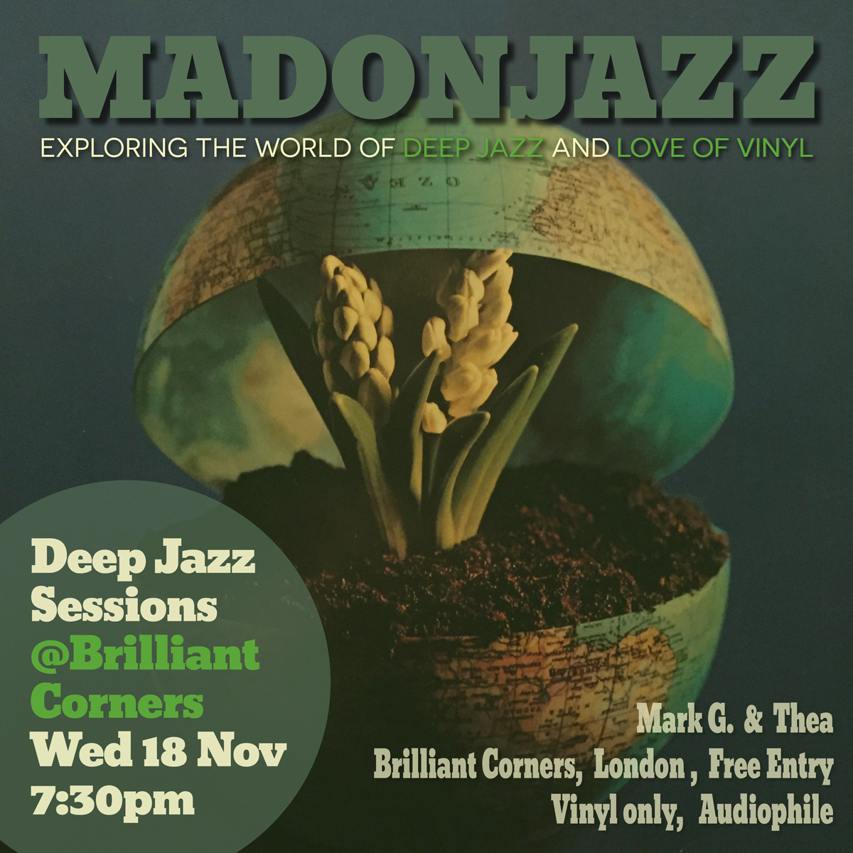 MADONJAZZ : DEEP JAZZ SESSIONS @BRILLIANT CORNERS 18 NOV