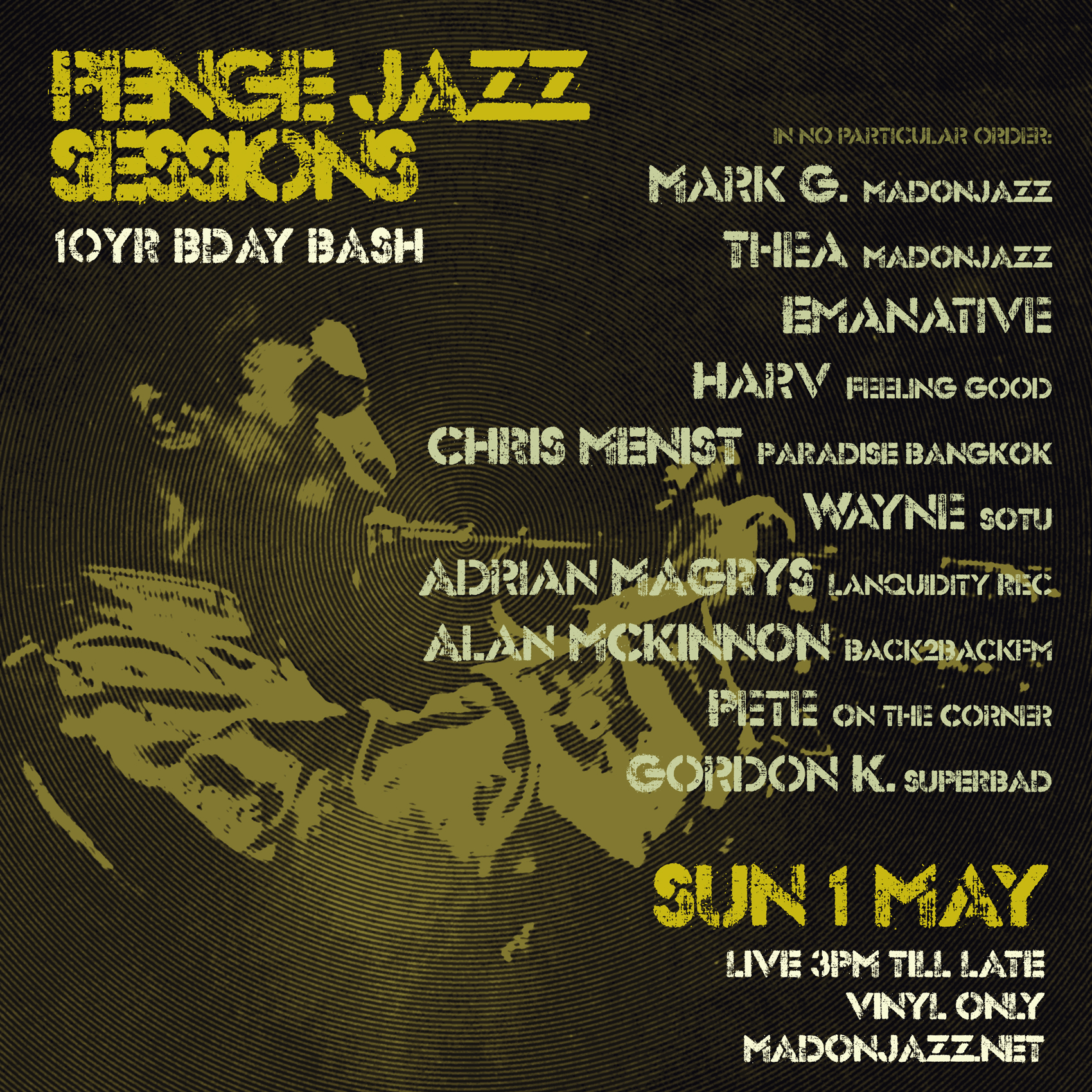 PENGE JAZZ SESSIONS - MAY 2016 - 10YR BIRTHDAY
