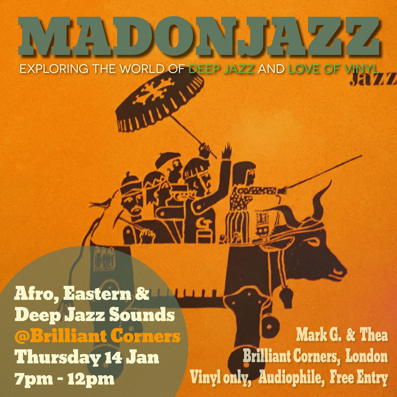 MADONJAZZ at Brilliant Corners London Thursday 14 January 2016