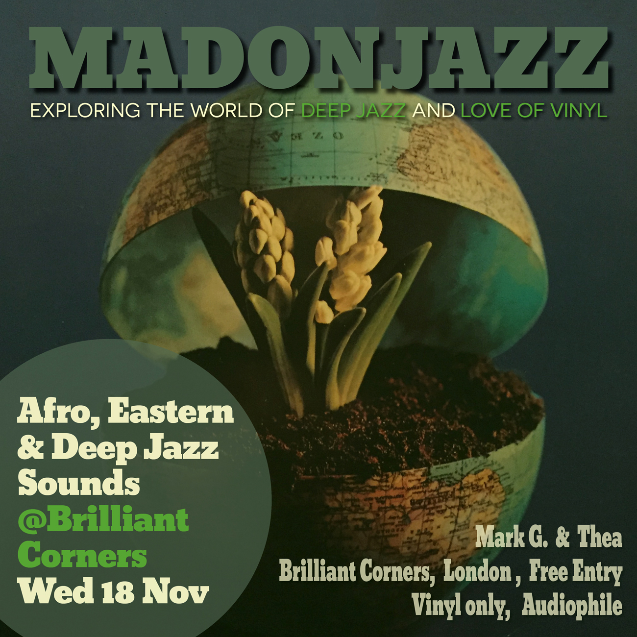MADONJAZZ at Brilliant Corners London Wednesday 18 November 2015