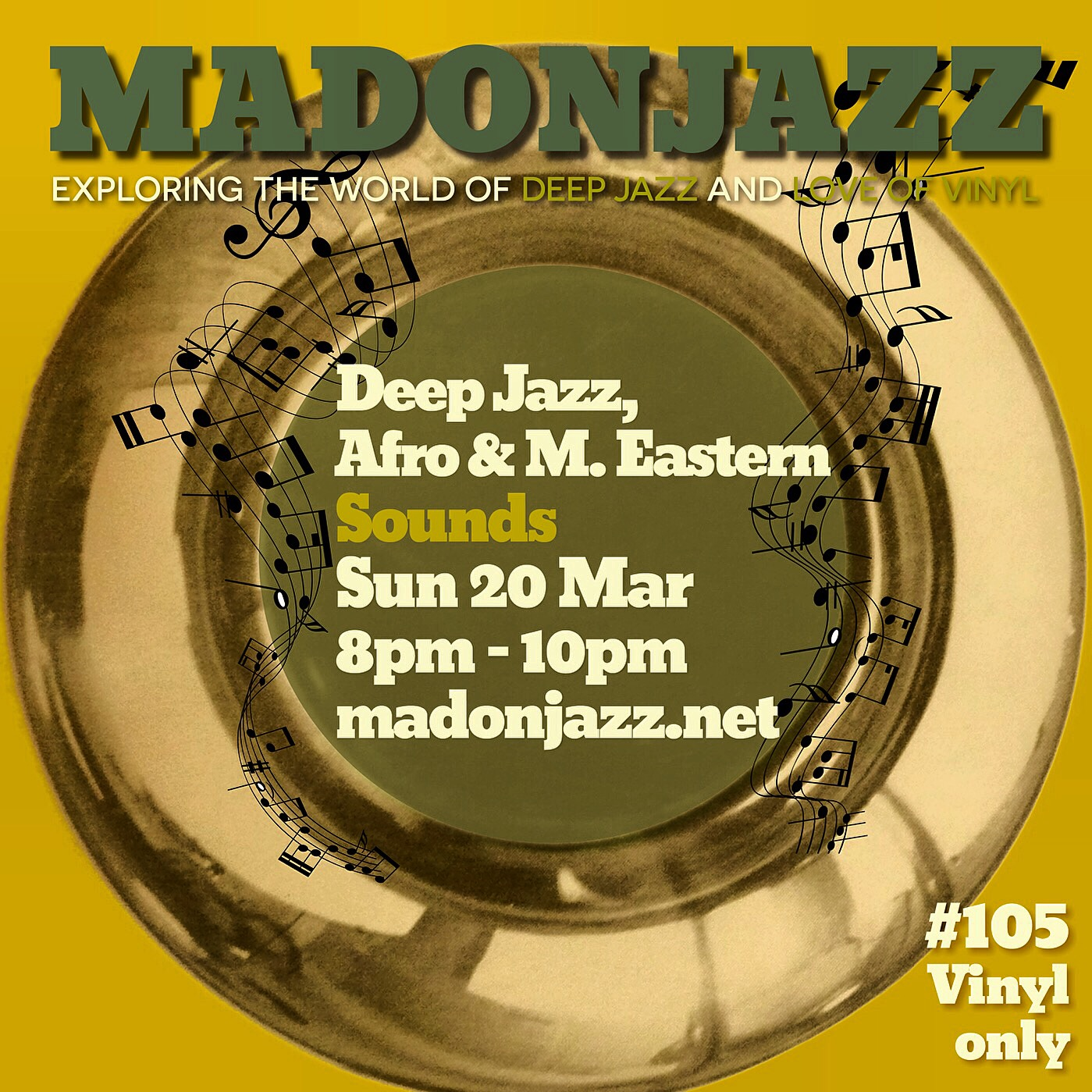 MADONJAZZ #105: Deep Jazz , Afro & M. Eastern Sounds