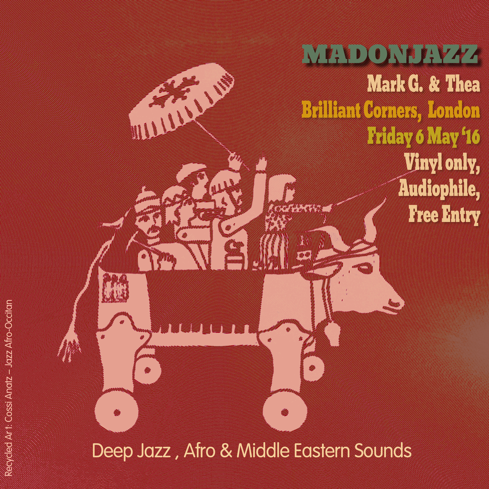 MADONJAZZ Deep Jazz, Afro & Middle Eastern Sounds at Brilliant Corners – Pt2