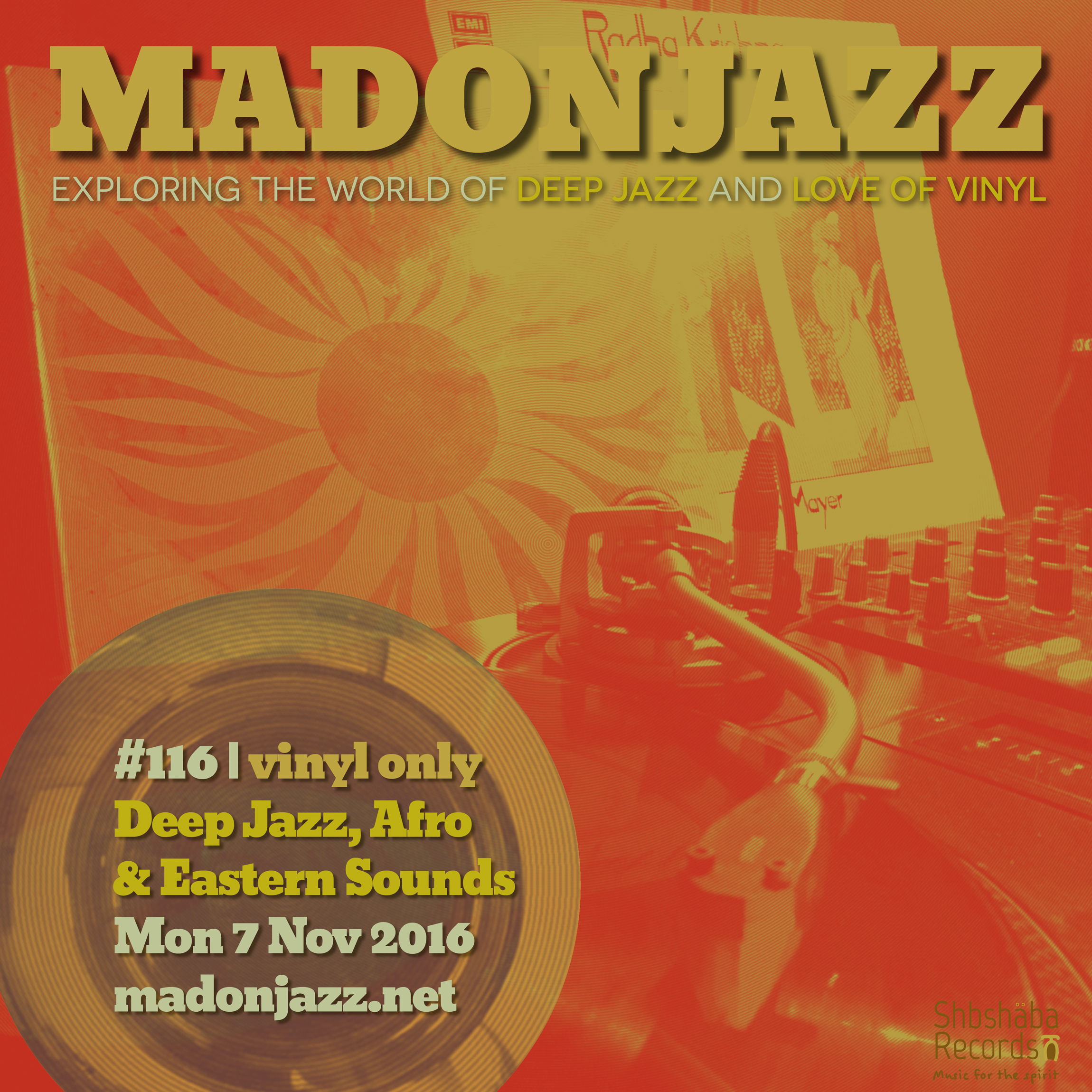 MADONJAZZ #116: Deep Jazz , Afro & Eastern Sounds w/ Thea & Mark G.