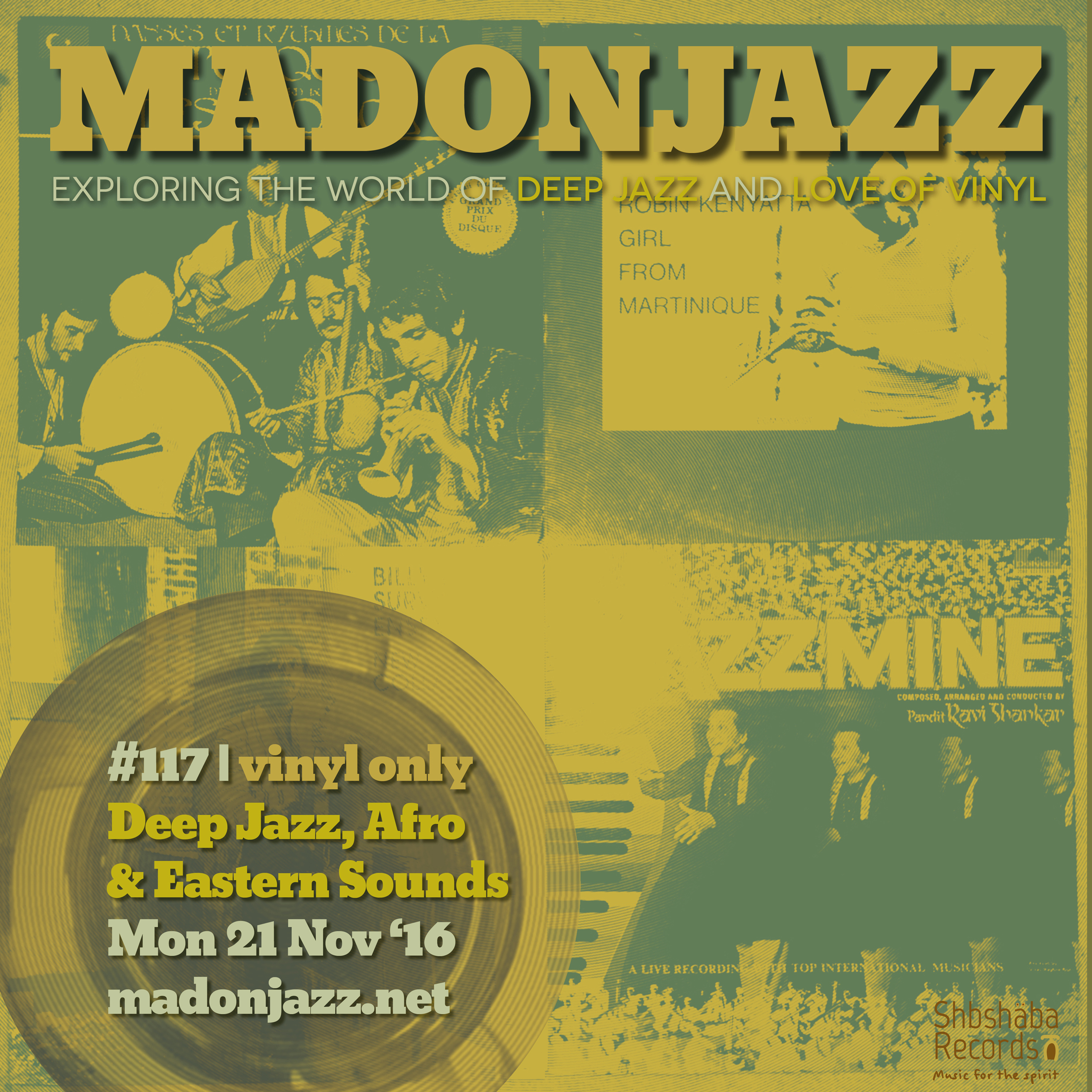 MADONJAZZ #117: Deep Jazz , Afro & Eastern Sounds w/ Thea & Mark G.