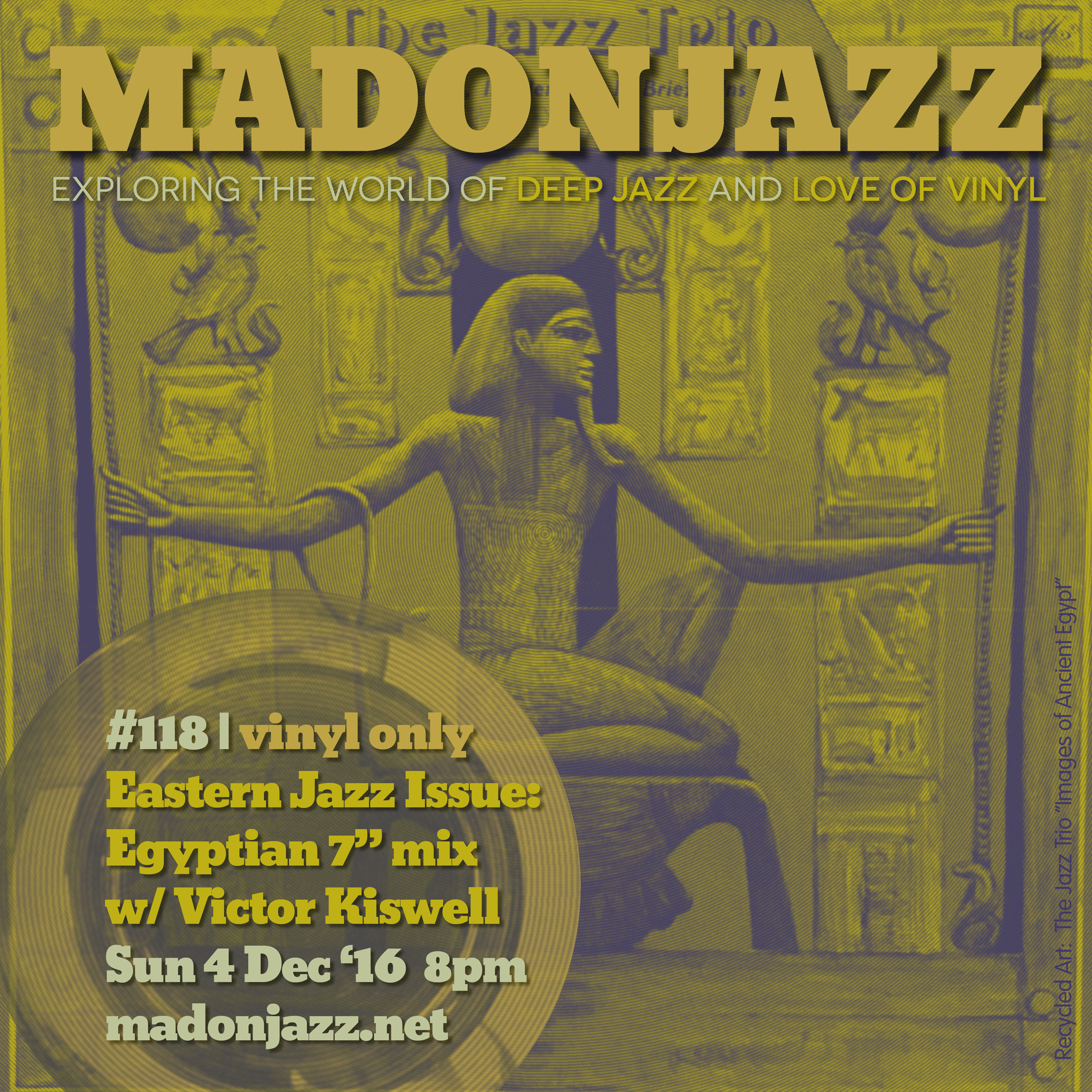 MADONJAZZ #118: Eastern Jazz – Egyptian 7″ mix by Victor Kiswell
