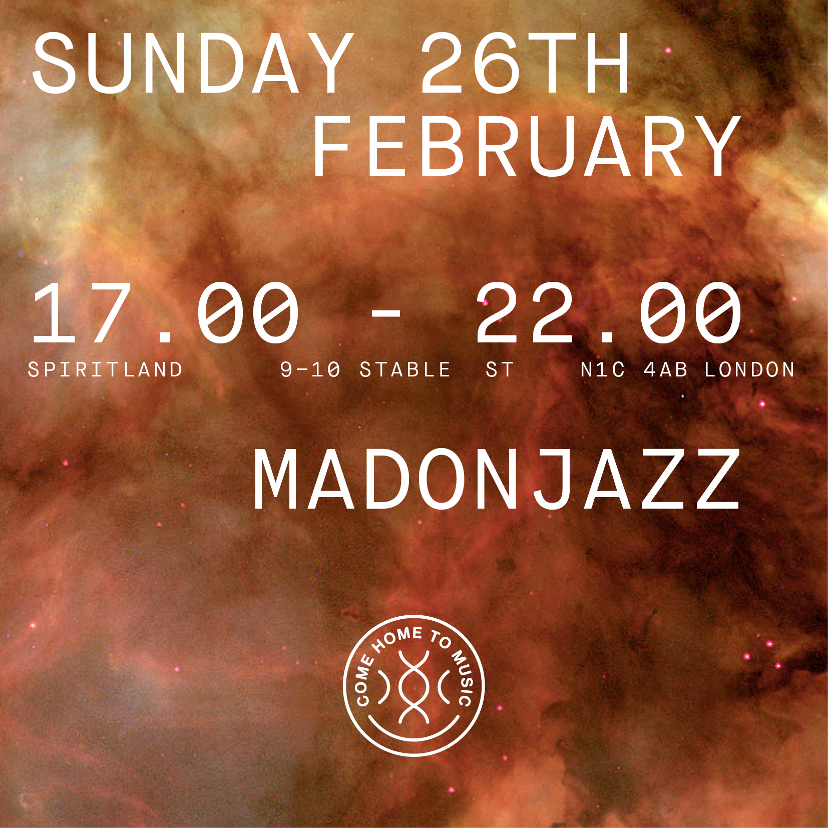 MADONJAZZ at Spiritland 26 FEB 2017 5-10pm